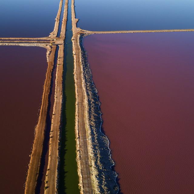"""""""Hutt Lagoon #4"""" stock image"""