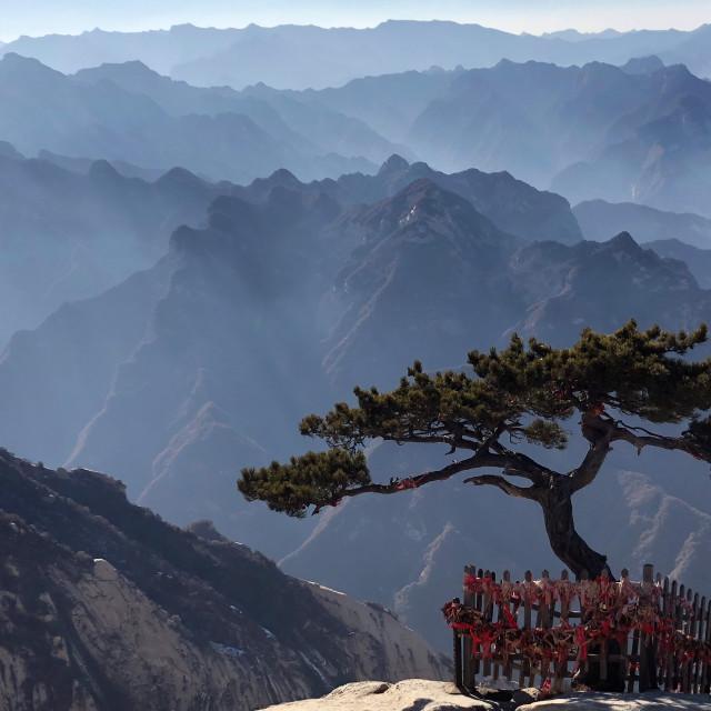"""Way to Huashan Summit"" stock image"