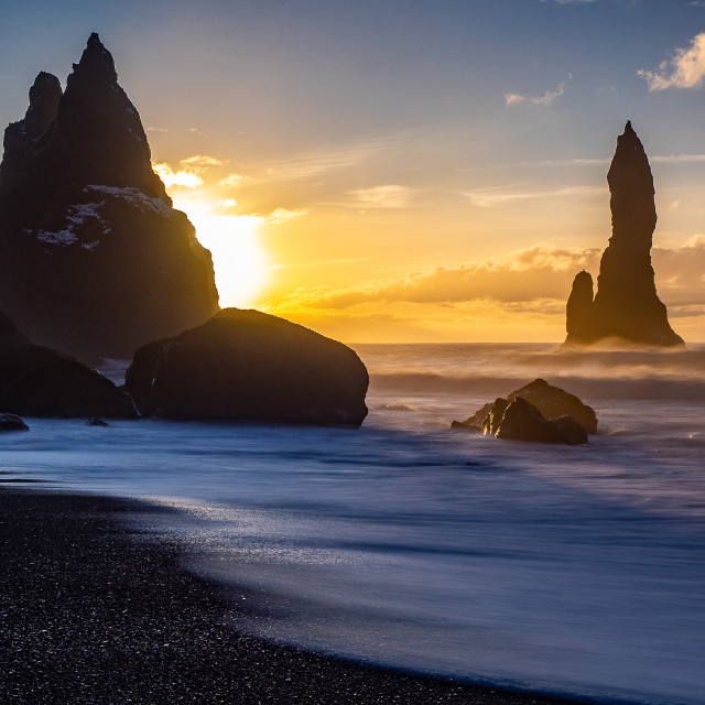 """Famous sea stacks"" stock image"