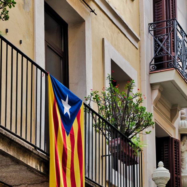 """""""Catalan independence flag"""" stock image"""
