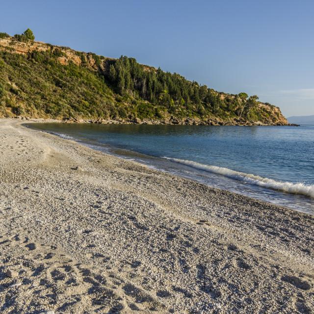 """bahia and beach of lourdata on the island of kefalonia"" stock image"