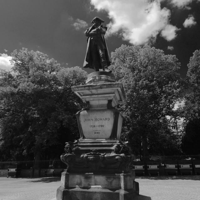 """The John Howard Statue, Bedford town; Bedfordshire; England; UK"" stock image"