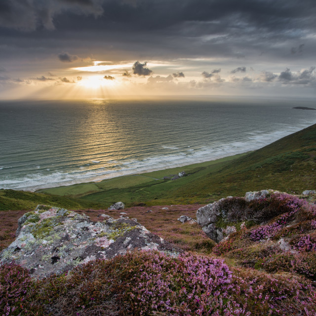 """Rhossili Down"" stock image"