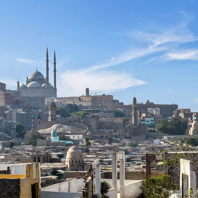 """""""Cairo Cityscape with Visible Mosques"""" stock image"""