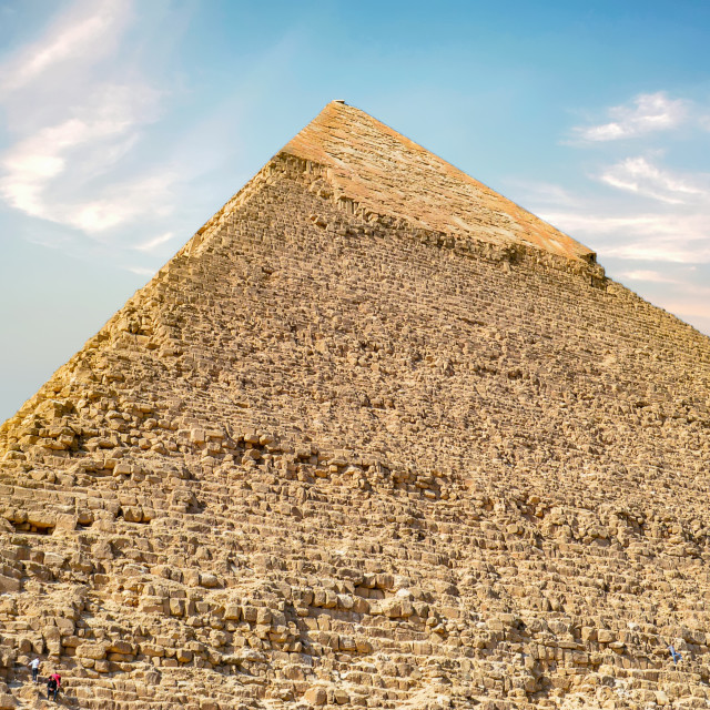"""""""Great Pyramid of Giza - Standing Wonder of the World"""" stock image"""