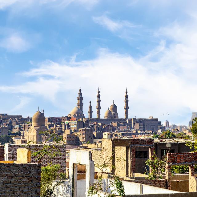"""Prominent Minarets in Cityscape of Cairo, Egypt"" stock image"