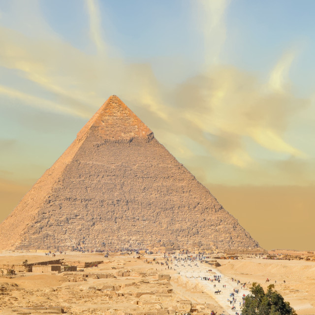 """""""The Great Pyramid of Giza is 5,000 Years Old"""" stock image"""