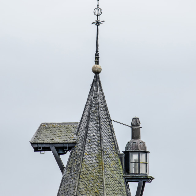 """""""Elburg tower with bells and sea light"""" stock image"""