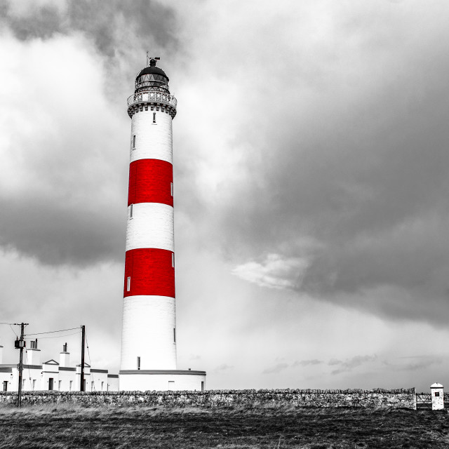 """""""Red Striped Lighthouse"""" stock image"""