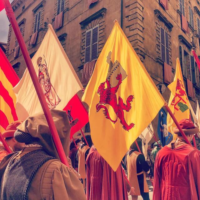 """""""Pre-Palio procession"""" stock image"""
