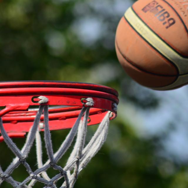 """""""Basket And Ball"""" stock image"""