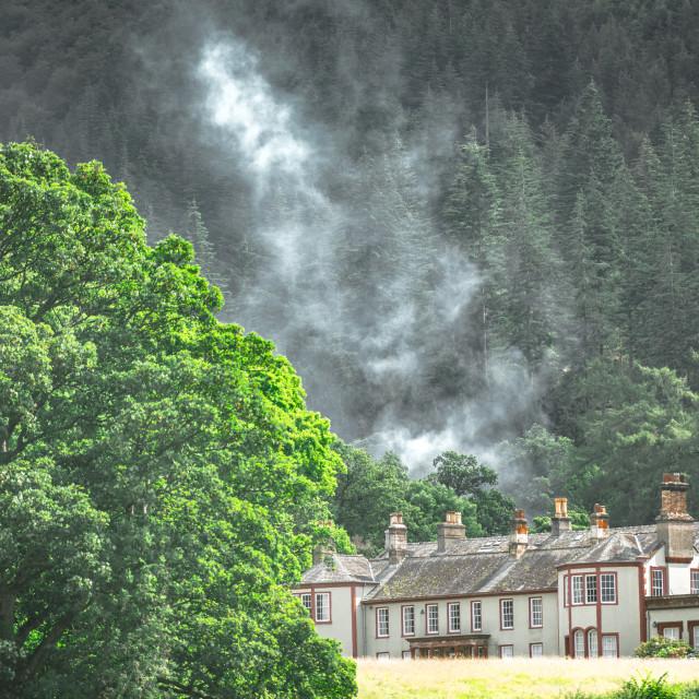 """Bassenthwaite Lake in the Lake District"" stock image"