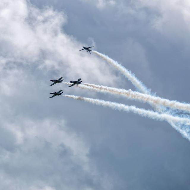 """Breitling Jet Team at Eastbourne Airbourne 2019"" stock image"