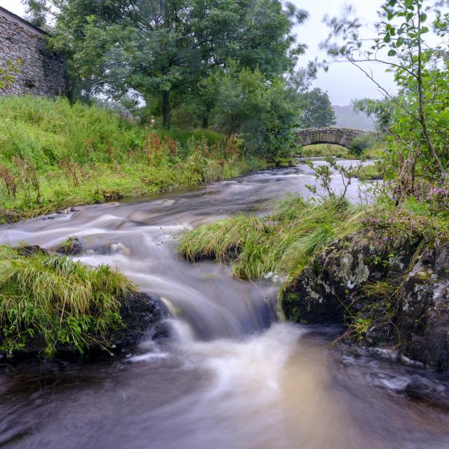 """The bridge at Watendlath in the Lake District, UK"" stock image"
