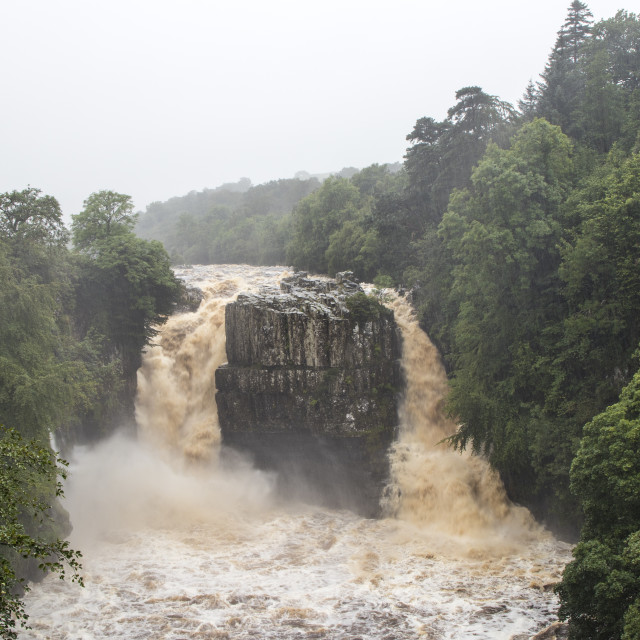 """High Force in Flood Conditions Upper Teesdale"" stock image"
