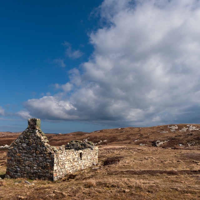 """""""Ruined Crofthouse South Uist"""" stock image"""