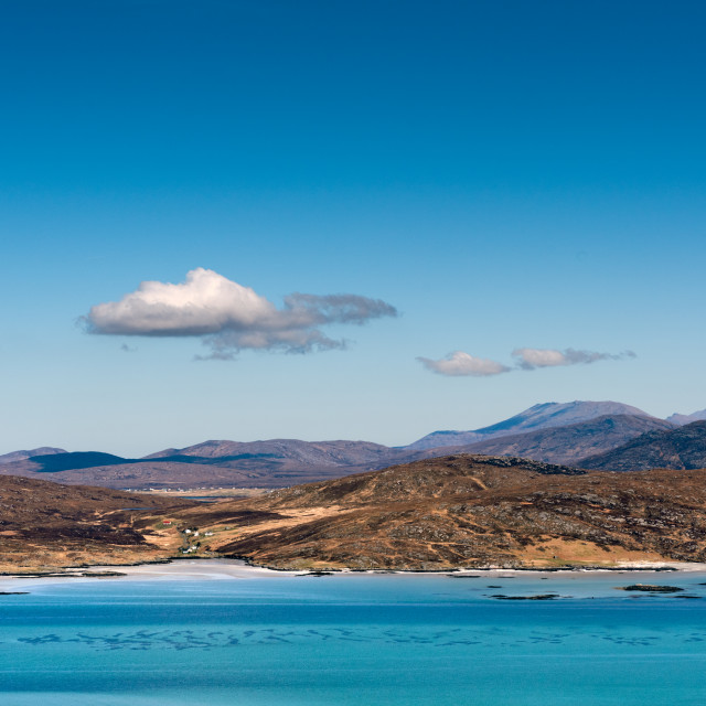 """""""South Uist from Eriskay"""" stock image"""