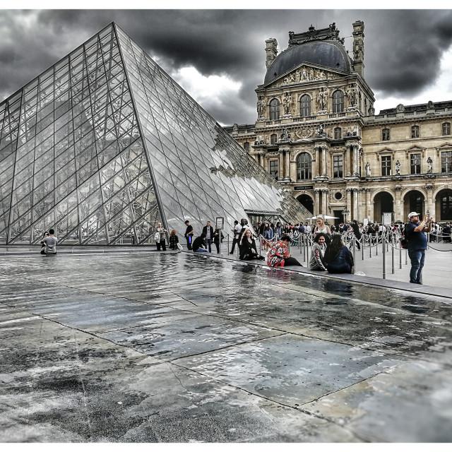 """""""Musée du Louvre"""" stock image"""