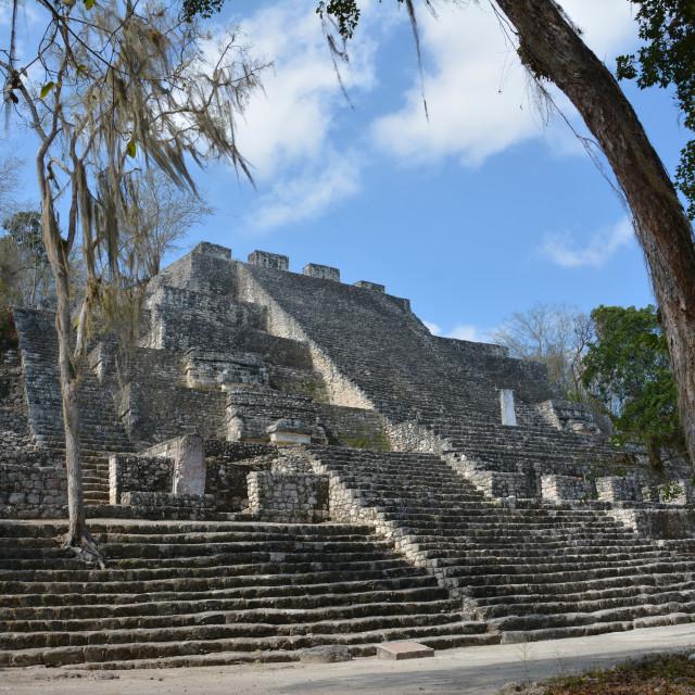 """mayan temles in yucatan mexico"" stock image"