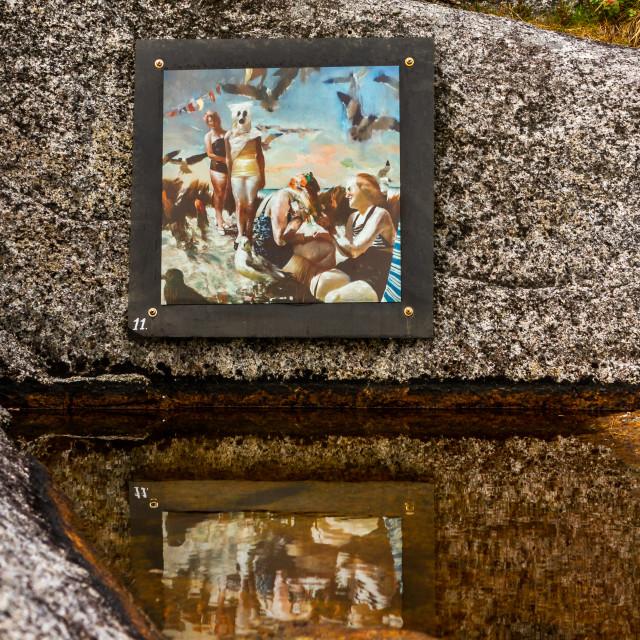 """""""Art in Tranøy in Norway"""" stock image"""