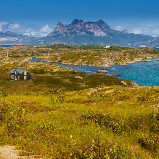 """House in Fyrvika in Norway"" stock image"
