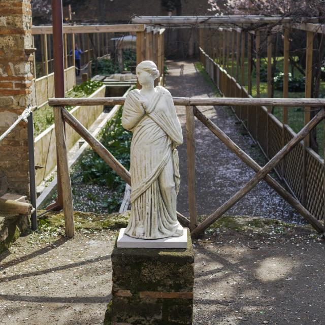 """""""Pompeii, Italy Casa di Octavius Quartio."""" stock image"""