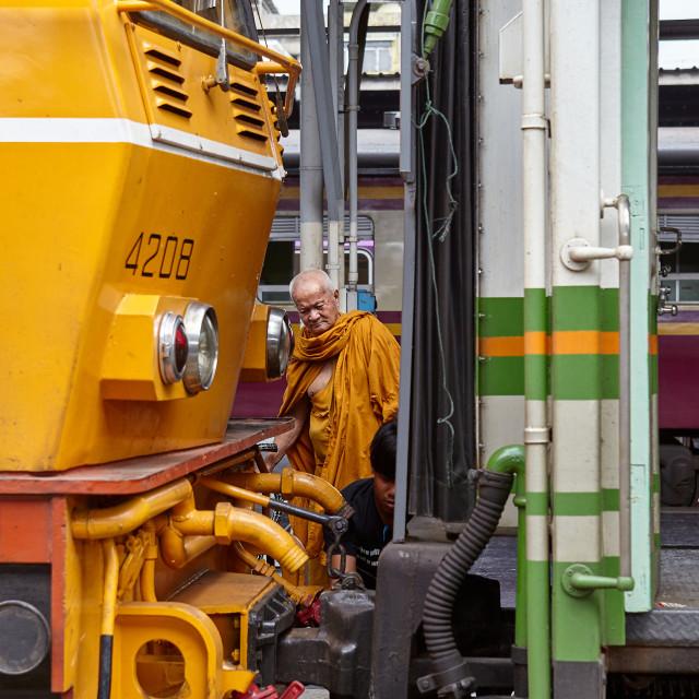 """Hua Lamphong railway station, Bangkok"" stock image"