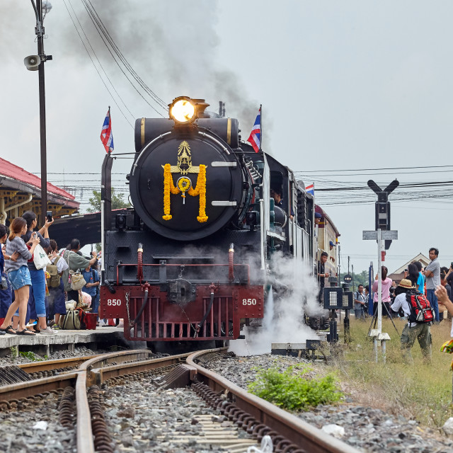 """Steam Train at Ayutthaya, Thailand"" stock image"