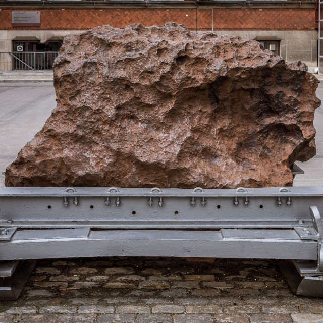 """Agpalilik, iron meteorite of 20,000 kilograms in Copenhagen"" stock image"