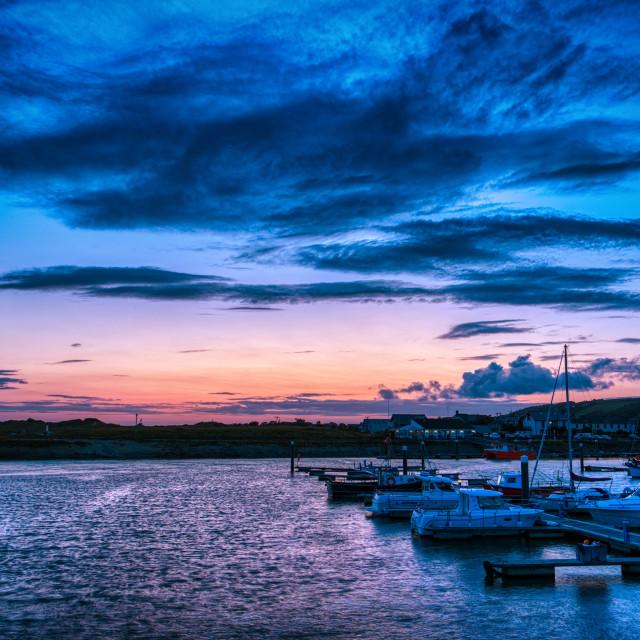 """Bury Port Harbour"" stock image"