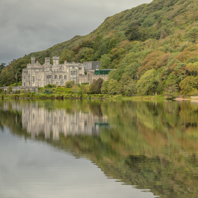 """Kylemore Abbey"" stock image"