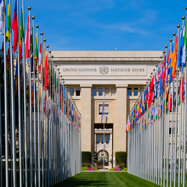 """United Nations Headquarters, Switzerland"" stock image"