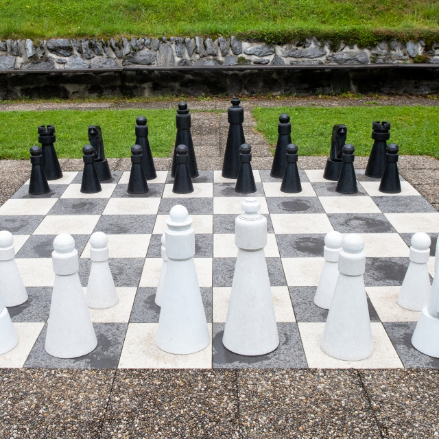 """Giant chess"" stock image"