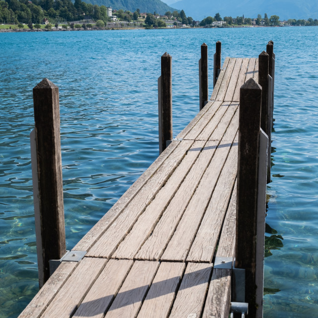"""Wooden dock"" stock image"