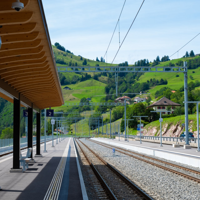 """Swiss train station"" stock image"