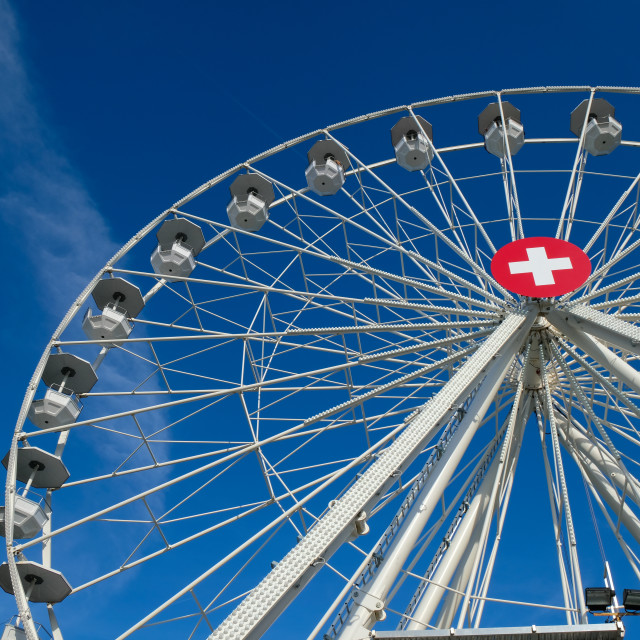 """Ferris wheel in Switzerland"" stock image"
