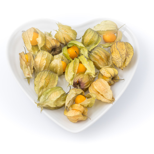 """Physalis heart shaped bowl"" stock image"