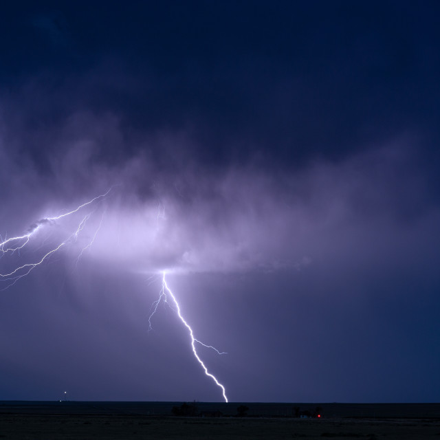 """Thunderstorm lightning bolt background"" stock image"