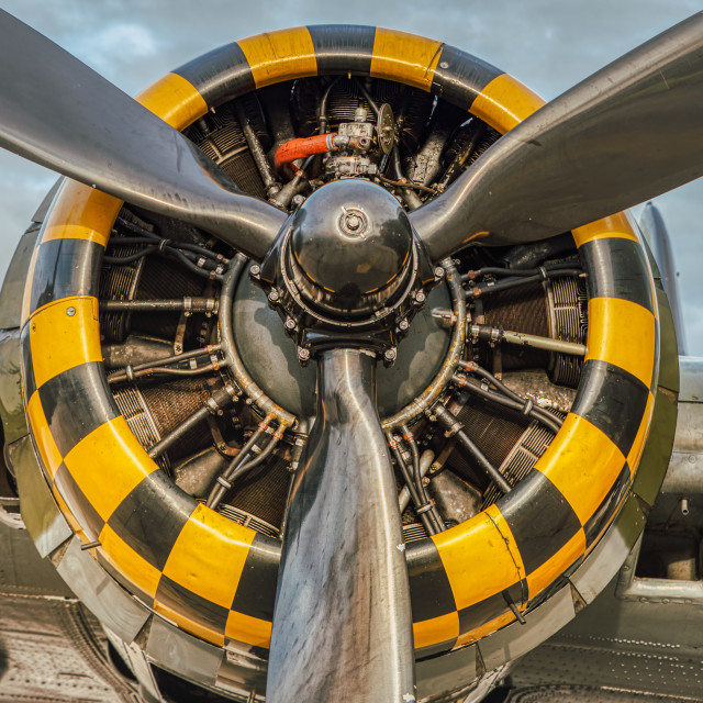 """B-17G radial engine"" stock image"