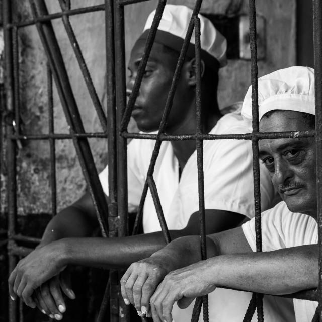 """""""Bakers in Havana"""" stock image"""