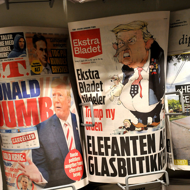 """""""DENMARK NATIONAL MEDIA FRONT PAGE COVERAGE"""" stock image"""