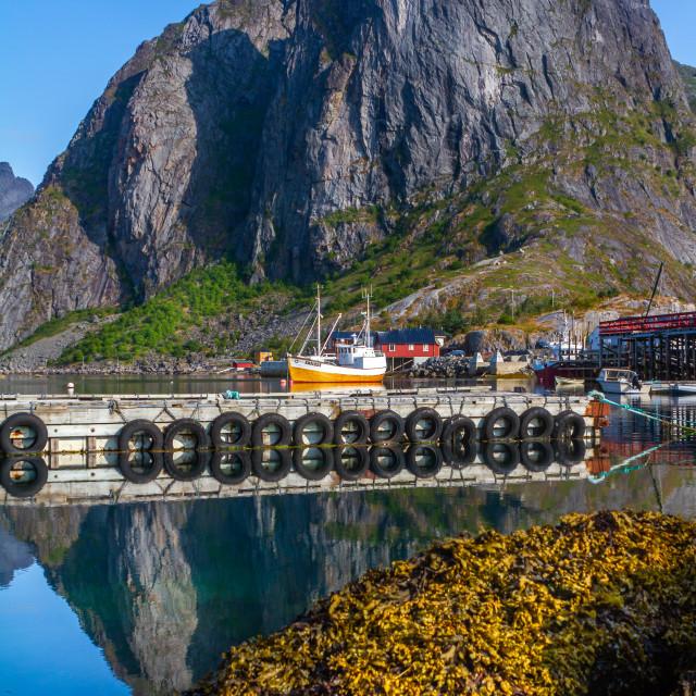 """Moskenes on the Lofoten in Norway"" stock image"