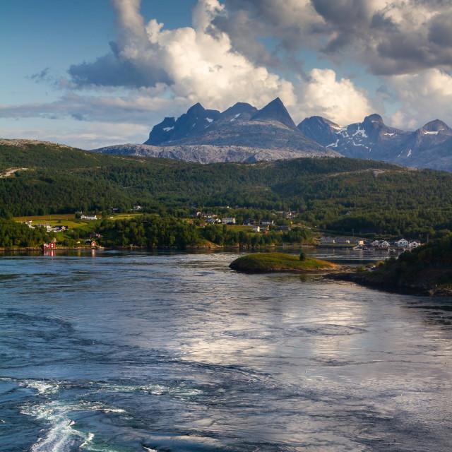 """""""Saltstraumen in Norway"""" stock image"""