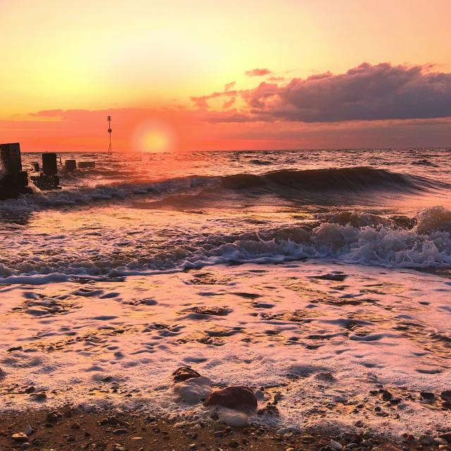 """Hunstanton Norfolk Sunset"" stock image"