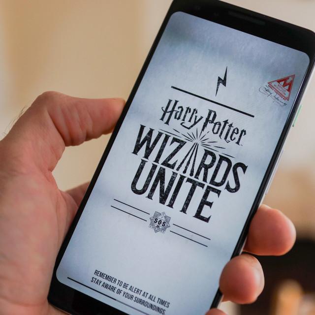 """Harry Potter Wizards Unite App"" stock image"