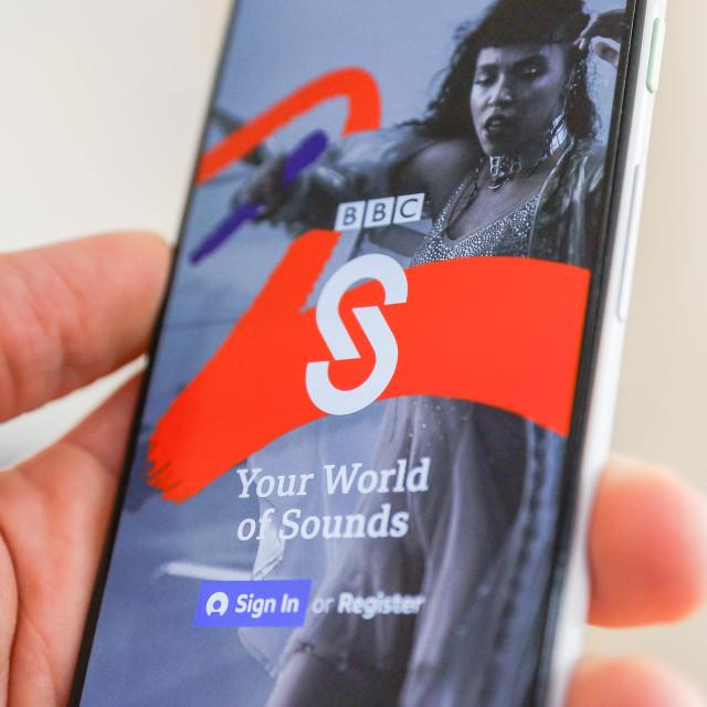 """BBC Sounds App"" stock image"