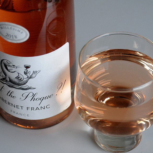 """""""FRENCH WINE WHAT THE PHOQUE CABERNET FRANC FRANCE"""" stock image"""