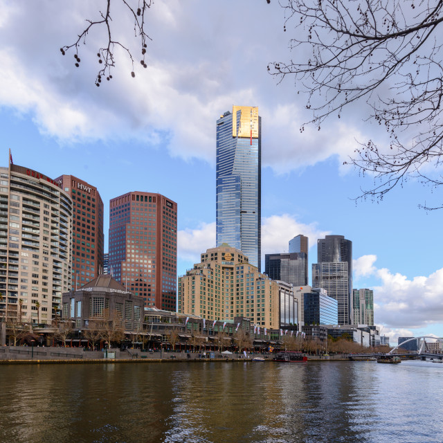 """Eureka tower Yarra river // Melbourne, Australia"" stock image"