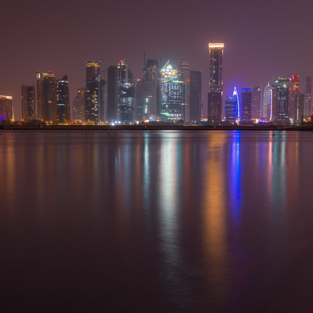 """Doha city from Westway Beach // Doha, Qatar"" stock image"