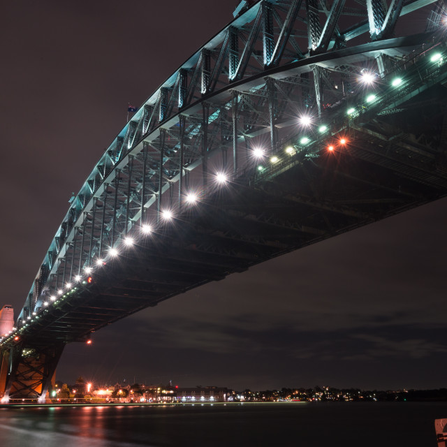 """Sydney Harbour Bridge from below // Sydney, Australia"" stock image"